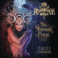 Alchemy Gothic 2021 Wall Calendar 12 Months Fantasy Art Fairy Dragon Unicorn NEW