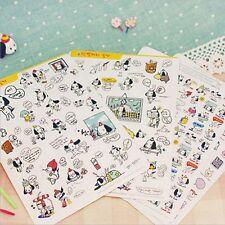 Kawaii Cartoon White Dog Pet Color Sticker DIY Diary Scrapbook Deco Decal Craft