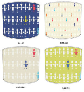 Reggie Robots Lampshades, Ideal To Match Quilts & Bedspreads