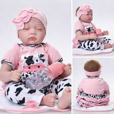 Realistic 22'' Reborn Baby Doll Full Body Silicone Vinyl Handmade Sleeping Girl