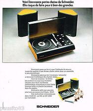 PUBLICITE ADVERTISING 065  1974  SCHNEIDER  hi-fi AGE 81
