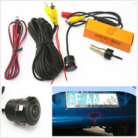 18.5mm 170°CCD Automobile Reverse Backup Parking Camera Kit Waterproof DC 12V