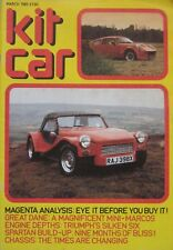 Kit Car magazine March 1983 featuring Mini Marcos, Magenta LSR