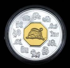 2004 CANADA LUNAR SERIES MONKEY 925 SILVER/GOLD COIN WITH COA & CASE