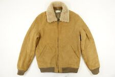 LOUIS W. A.P.C. APC CALF SKIN LEATHER SUEDE SHEARLING EMMANUEL BOMBER JACKET