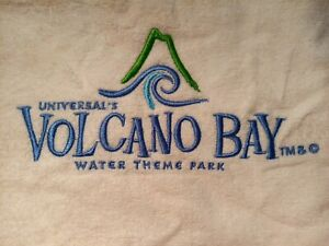 Universal's Volcano Bay White Beach Towel Collectable