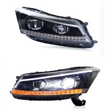 LED Headlights For Honda 8Th Gen Accord 2008-2012  Front Lamps DRL Projector