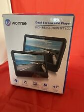 WONNIE 9.5'' Dual Screen DVD Player Portable for Car Travel Built-in 5 Hours