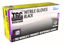 TGC - 160003 - Disposable Nitrile Gloves - Black - Large - Box of 100