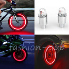 1x Red Neon Tire Wheel Valve Cap LED Flashing Light Lamp for Car Bike Motorcycle