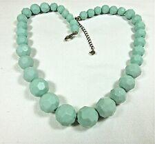"Estate Vintage/Mod graduated beaded necklace  18-21"""