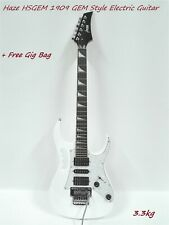 Haze HSGEM 1909 GEM Style Solid Body Electric Guitar,White,HSH Pickups+Free Bag