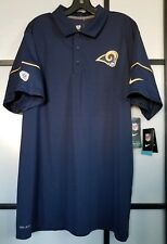 Men s Los Angeles Rams Nike Navy Team Issue Dri-FIT Polo Shirt Size Large e07e53fb4