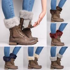 Cover Women Boot Socks Cuffs Toppers Trim Fur  Crochet Knit Leg Warmer