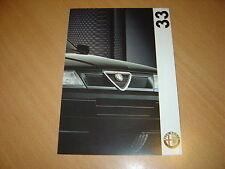 DEPLIANT Alfa Roméo 33 de 1992