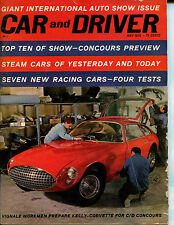 Car & Driver May 1962 Giant International Auto Show Issue, Top 10 of Show