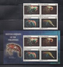 Philippine Stamps 2013 Deep-Sea Shrimps Complete Set MNH