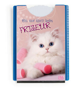 """Stabile Motiv Parkscheibe Katze Kätzchen """"Friseur"""" Eiskratzer Gummilippe"""
