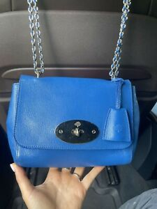 Authentic Mulberry Lily Regular Blue Leather Crossbody Bag