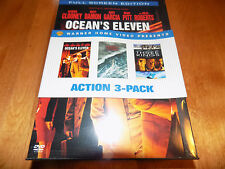 ACTION FILMS 3-PACK Ocean's Eleven / Perfect Storm / Three Kings 3 Disc DVD SET