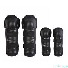 4 Pcs Elbow Knee Shin Armor Guard Pads Protect Kit for Motorcycle Racing