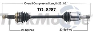 For Scion iQ 2012-2013 Front Driver Left CV Axle Shaft SurTrack TO-8287
