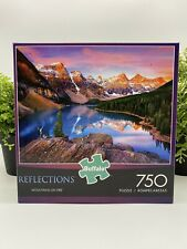 """New BUFFALO REFLECTIONS PUZZLE """"MOUNTAINS ON FIRE"""" 750 PIECES FAST SHIPPING!"""