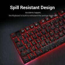Redragon K552 Compact 87 Mechanical Key Gaming Keyboard Red Backlight (Black)