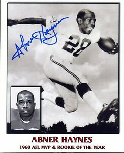 Abner Haynes autographed 8x10 Dallas Texans In Person