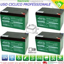KIT 4 Batterie 12V 14AH GEL AL PIOMBO CICLICA DEEP CYCLE RICARICABILE 48V 15AH