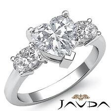Corte Corazón Diamante Tres Piedras Anillo de Compromiso GIA i VS2 14k Oro