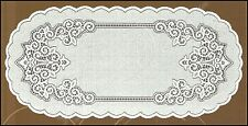 "Oval white,lace table runner NEW 60cm x 120cm (23.5""x 47"") perfect gift"