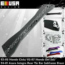EMUSA 1992-1995 Honda Civic Rear Lower Tie Bar Subframe Brace BLACK