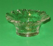 Clear Avon Tulip Dish Candle Holder or Vanity Trinket Dish