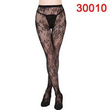 Women Black Lace Fishnet Hollow Patterned Pantyhose Tights Stocking Lingerie MD
