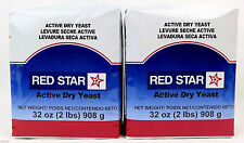 RED STAR ACTIVE DRY YEAST Vacuum Pack Bread 2 PACKS - TOTAL 4 LBS  EXP. 5 / 2022