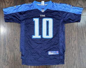 Tennessee Titans Football NFL Football Jersey #10 Vince Young Youth Size Large