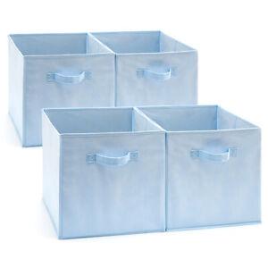 EZOWare 4pc 13inch Fabric Basket Bins, Storage Cube Boxes For IKEA Shelves Rack