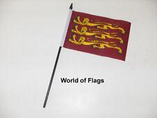 "KING RICHARD the LIONHEART SMALL HAND WAVING FLAG 6"" x 4"" Medieval Table Display"