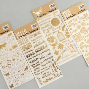 Twinkle Gold Foil stickers Birdcage Blessings ST294