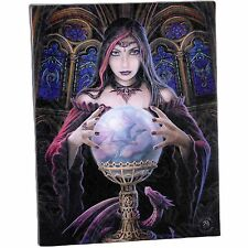 Crystal Ball Anne Stokes Wall Plaque Fantasy Mystical Magic Art Canvas Picture