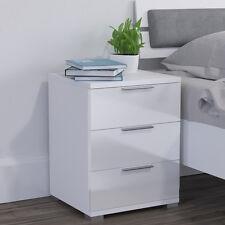 bedside cabinet drawersnightstand cabinetstorage Bedroom White high-gloss