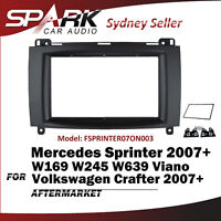 SP Double DIN FACIA Kit Panel Fascia Dash Plate For Mercedes Sprinter 2007+