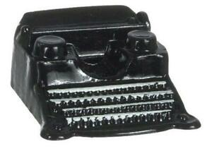 Dolls House Black Classic Typewriter Miniature 1:12 Study Office Desk Accessory