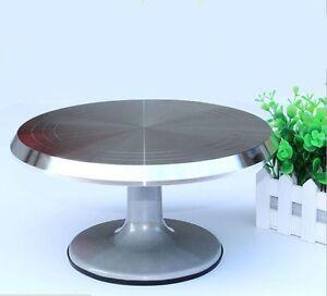 "Heavy Duty Aluminum alloy Cake Decorating Turntable Turn Table Revolving 12"""