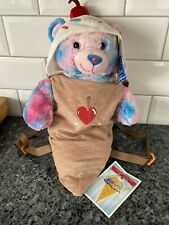 Rare Build A Bear Bubblegum Ice Cream Bear Blue And  Pink Retired!