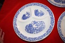 Empress Ivory  pottery divided plate blue Set of 6