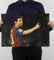 Messi  / soccer star // cafe / bar / decorative painting kraft paper posters