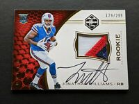 2016 Panini Limited Jonathan Williams Rookie Autograph Patch /299 #135 Bills