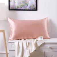100% Pure Mulberry Silk Pillowcase,Both Side Silk Pillowcases, Zippered, Soft